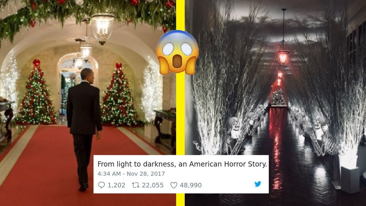 hilarious reactions to melania trumps creepy white house christmas decorations - Creepy Christmas Decorations