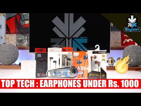 Top Tech - Top Tech - 10 Budget Earphones Under Rs. 1000 - iGyaan Shopping List