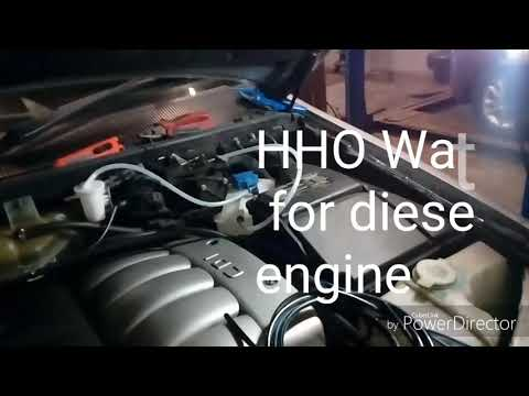 HHO water-fuel for diesel engine