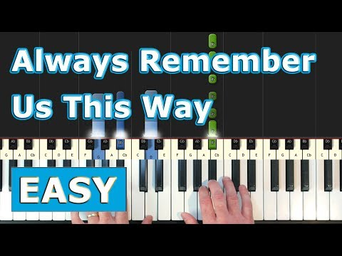 Lady Gaga - Always Remember Us This Way - EASY Piano Tutorial- (A Star is Born) Sheet Music