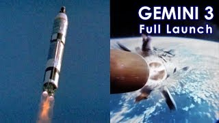 GEMINI 3 Launch to Staging [HD source] (1965/03/23)