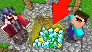 НУБ И ПРО НАШЛИ КЛАД В ЭТОЙ ДЕРЕВНЕ ЖИТЕЛЕЙ В МАЙНКРАФТ  ТРОЛЛИНГ ЛОВУШКА ВЫЖИВАНИЕ Minecraft
