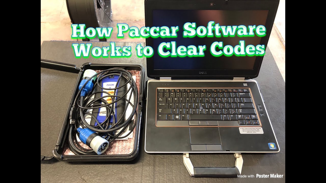 How to Clear Check Engine Codes in a Paccar using DAVIE