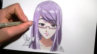 Download Video Kamishiro Rize from Tokyo Ghoul | Speed drawing MP3 3GP MP4