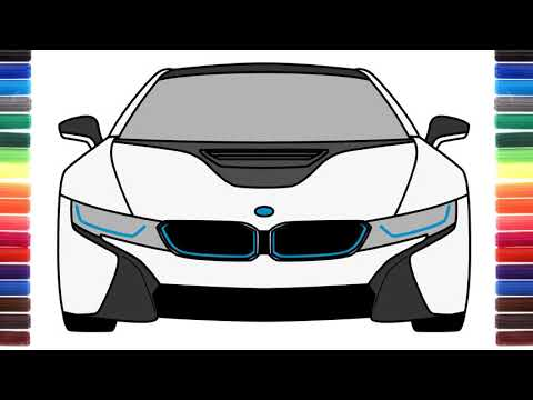 How To Draw BMW I8 Front View