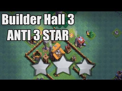 Best Clash of Clans BUILDER HALL Base Level 3 CoC Base Anti 3 Star + REPLAYS