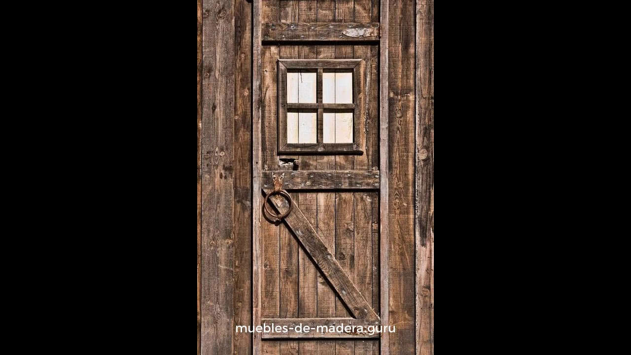 20 ideas de puertas modernas en madera r stica youtube for Puertas principales rusticas madera