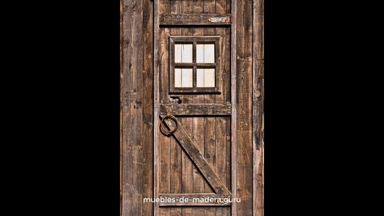 20 ideas de puertas modernas en madera r stica youtube for Puertas de madera interiores rusticas