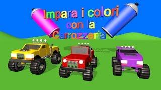 Impara i colori con la Carrozzeria - AlexKidsTV