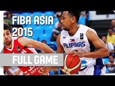 Philippines V Iran - Group E - Full Game - 2015 FIBA Asia Championship