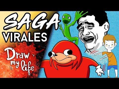 Los VIDEOS MÁS VIRALES de INTERNET - Draw My Life en Español