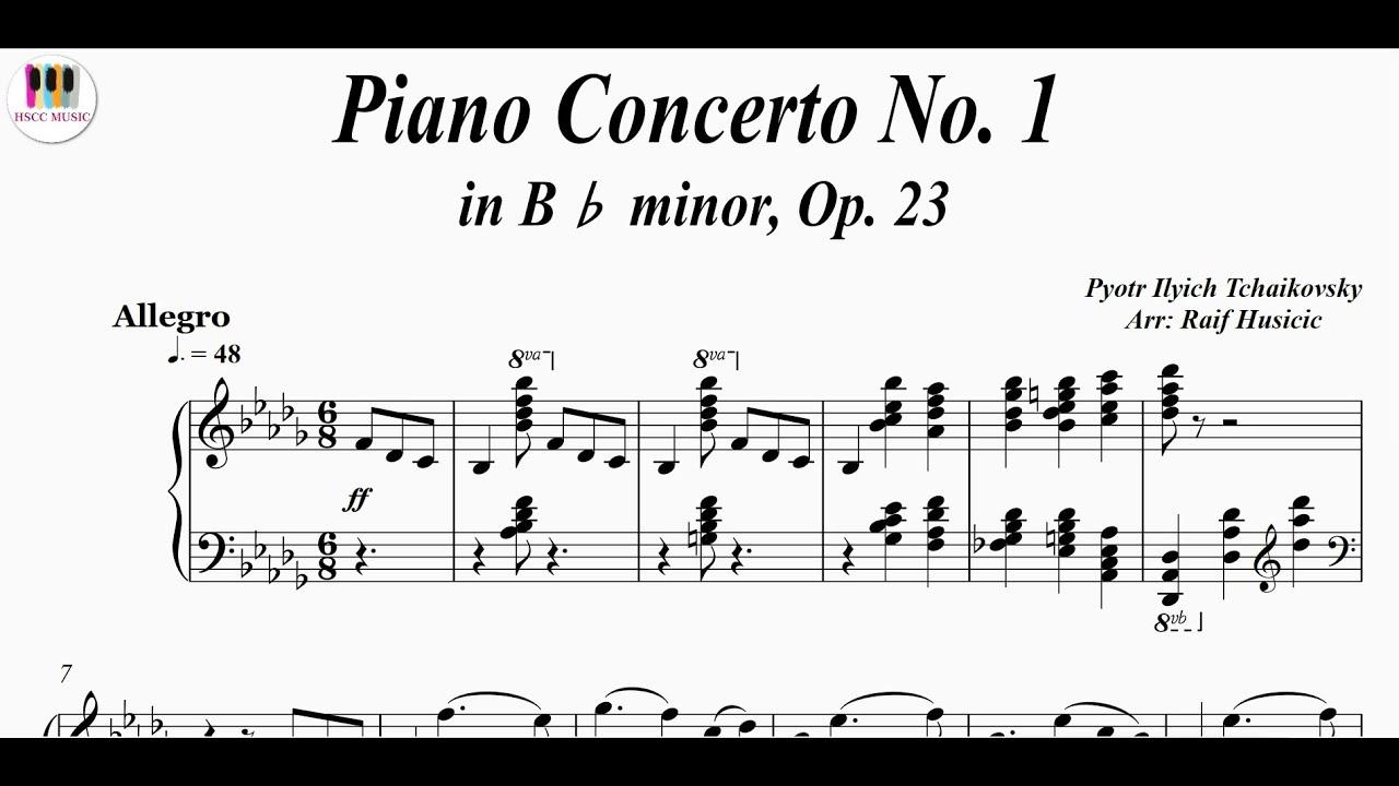 Piano Concerto No 1 In B Minor Op 23 Pyotr Ilyich Tchaikovsky Piano Youtube