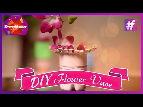 Diy Tutorial How To Make Flower Vase Out Of Plastic Bottle Youtube