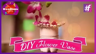 Easy Diy | How To Make A Flower Vase Out Of Plastic Bottle
