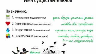 Понятие о существительном (6 класс, видеоурок-презентация)