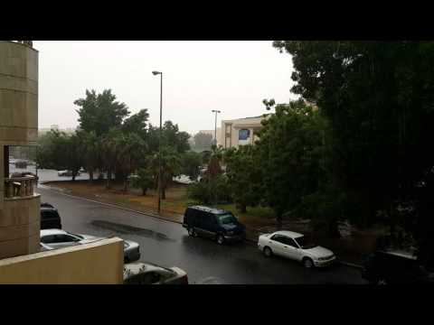 Drizzle after rain storm in jeddah
