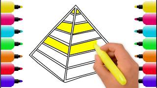How to Draw and Color a Pyramid