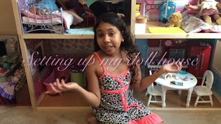 *** SETTING UP MY GIANT DOLL HOUSE  FOR AMERICAN GIRL ** JASSIES TOY REVIEWS
