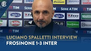 "FROSINONE 1-3 INTER | LUCIANO SPALLETTI INTERVIEW: ""Three important points\"""