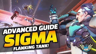 Overwatch - Sigma ADVANCED Guide! THE FLANKING TANK! London Spitfire Vs Shanghai Dragons!