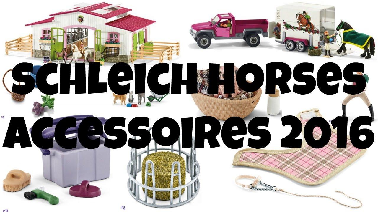 ALL HORSE ACCESSOIRES 2016 SCHLEICH | horzielover - YouTube