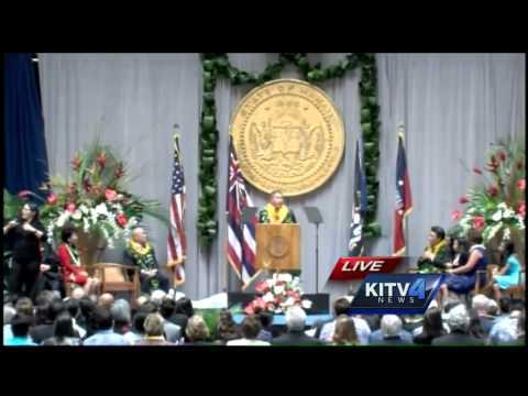 Gov. David Ige speaks at inauguration