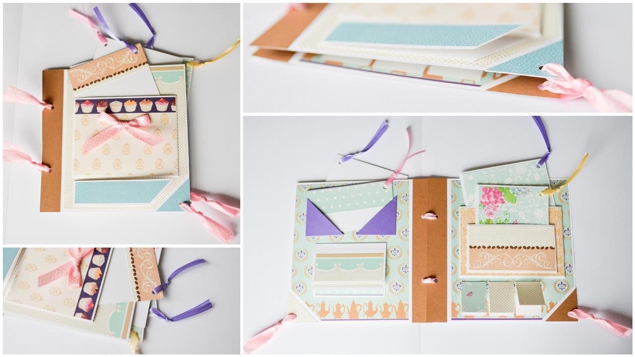 How To Make Mini Scrapbook Diary Album Step By Step Diy Mini Pamietnik Album