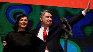 Croatia's former PM Zoran Milanovic wins landslide presidential election victory