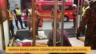 Gambar cover Warga Bangladesh cedera jatuh dari siling hotel
