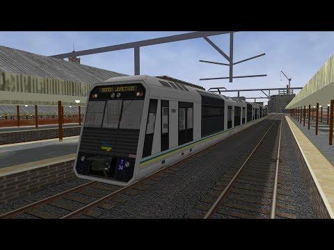Openrails Sydney: The Inner West line timelapse Central - Homebush