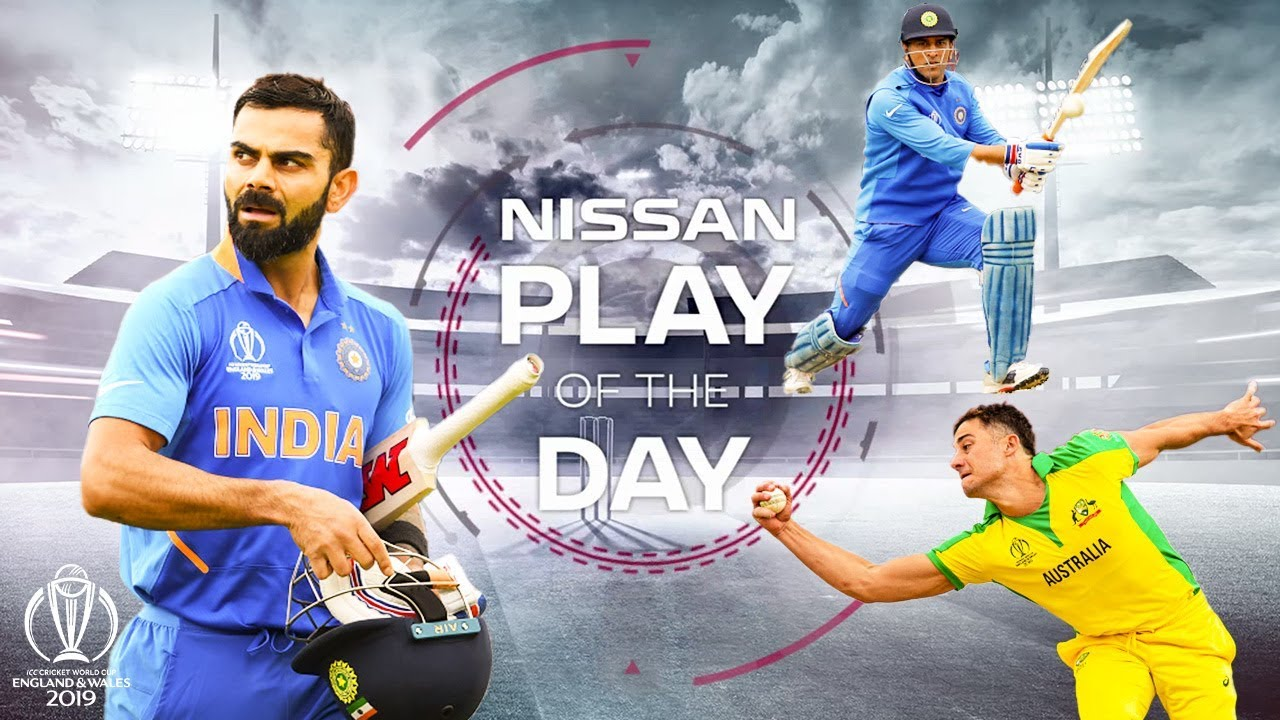Dhoni Shot? Stoinis Grab? | Nissan Play of the Day | India vs Australia | ICC Cricket World Cup 2019