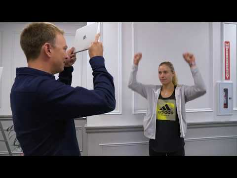 Angelique Kerber plays Heads Up at Rogers Cup