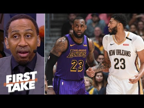 Stephen A. praying the Lakers land Anthony Davis | First Take