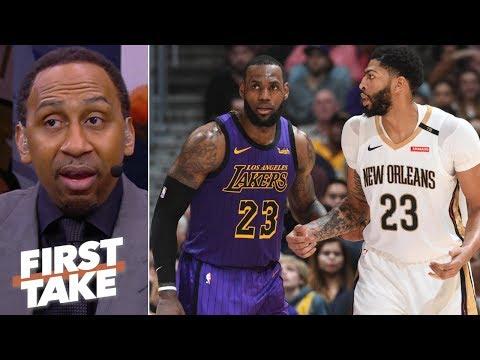 Stephen A. praying the Lakers land Anthony Davis | First Take