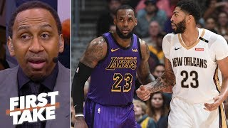 Stephen A. praying the Lakers land Anthony Davis | First Take thumbnail