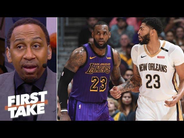 Stephen A. praying Lakers land Anthony Davis   First Take