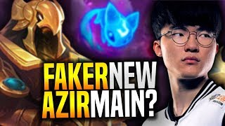 Faker New Azir Main for New Season? - SKT T1 Faker Plays Azir with New Runes! | SKT T1 Replays