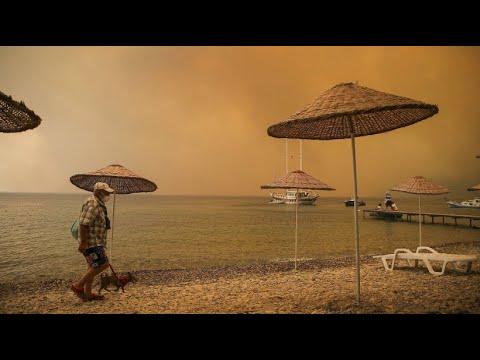 Rekordtemperaturen: Brände in südeuropäischen Touristenregionen wüten weiter