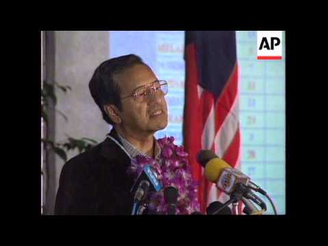 MALAYSIA: PRIME MINISTER MAHATHIR MOHAMED ELECTION VICTORY