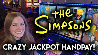 INSANE! JACKPOT HANDPAY! The Simpsons Slot Machine!! FULL SCREEN!!