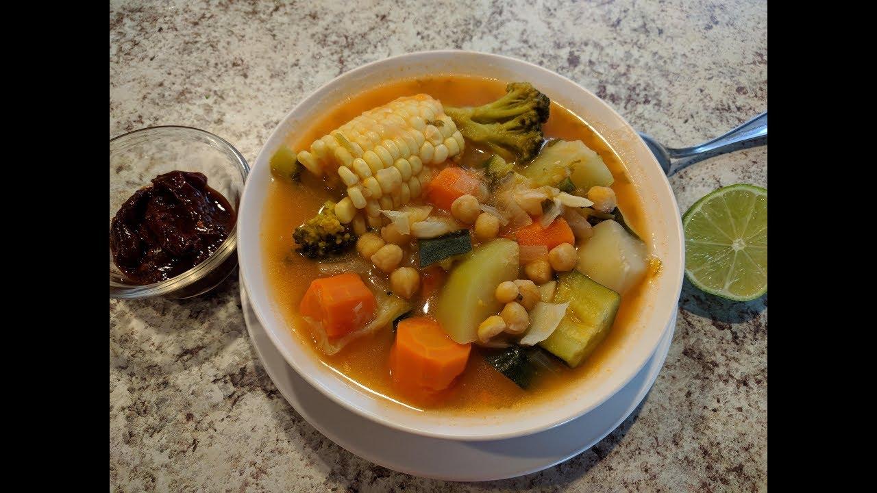 Sopa de vegetales dieta