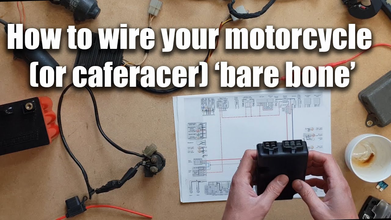 Wiring a motorbike (or caferacer) 'Bare Bones' (part 2 of 2)