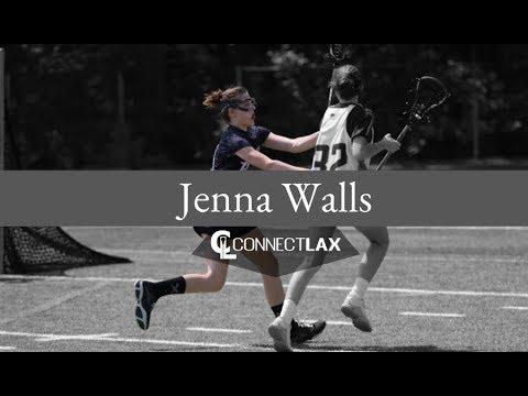 Jenna Walls Lacrosse Highlights - NJ 2021 - Def