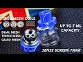 Sense Screen Subohm Tank   Probably the best tank with REAL mesh coils