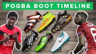 POGBA BOOT HISTORY 2009 - 2017 | ALL PAUL POGBAS FOOTBALL BOOTS