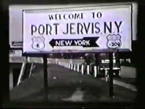 Driving Across Matamoras PA Port Jervis NY Bridge 1941 Pike St.