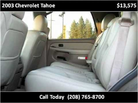 2003 Chevrolet Tahoe available from Jennifer's Coeur D'Alene