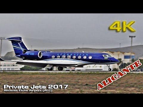 Private Jets Alicante Airport (2017) [4K]
