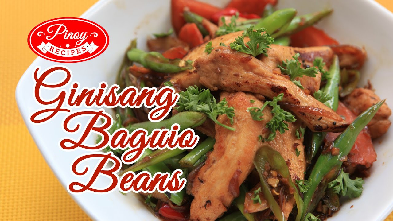 Ginisang Baguio Beans Pinoy Recipe : How to cook Ginisang ...