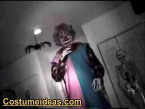 & Scary Halloween Clown Costume Make Up - YouTube